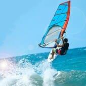 Francês e deporte como Windsurf