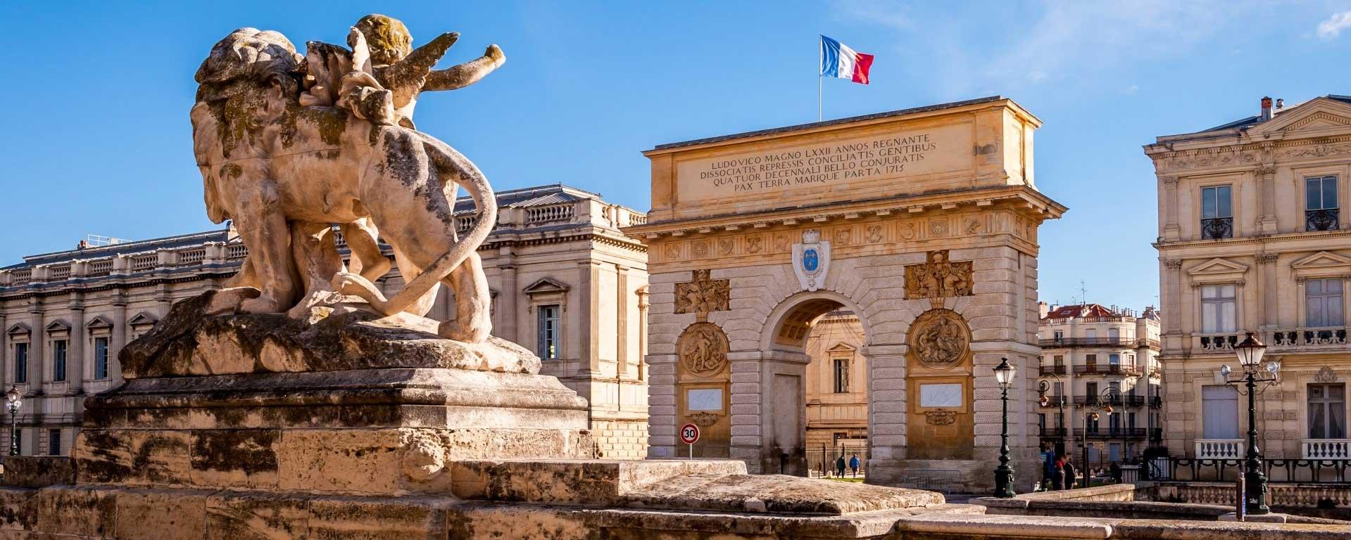 Alliance française montpellier arc de triomphe